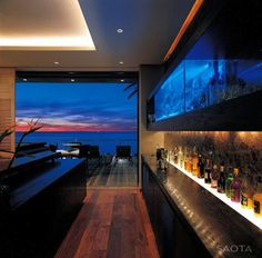 Sleek Rocky Coastline Residence in Bantry Bay, Cape Town // South Africa