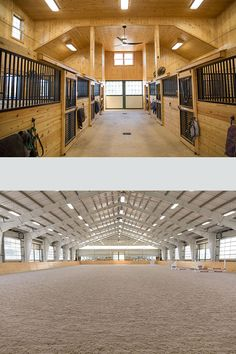Take a look at a gorgeous horse barn and apartment with a view in Hume, Virginia. The property also has an indoor arena and hay storage. Dream Stables, Dream Barn, Barn Layout, Horse Barn Designs, Horse Arena, Horse Barn Plans, Indoor Arena, Barn Apartment, Horse Training