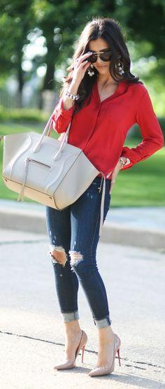 New Moda Jeans Casual Christian Louboutin Ideas Look Fashion, Teen Fashion, Runway Fashion, Fashion Outfits, Womens Fashion, Fashion Trends, Modern Fashion, Fashion 2018, Fall Outfits
