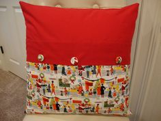 Alexander Henry Christmas Pillow Cushion by hoemwork, via Flickr
