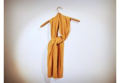 Yellow-Orange Vintage Scarf by THESALTYFAWN on Etsy