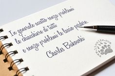 """Decisamente più saggio di me :) Io non sono capace di """"ignorare"""".... """"In generale accetto senza problemi le chiacchiere di tutti e senza problemi le lascio perdere. """" Charles Bukowski #charlesbukowski, #italiano, #graphtag, #chiacchiere,"""