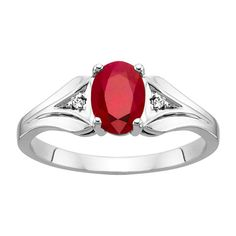 Fred Meyer Jewelers | Created Ruby and Diamond Birthstone Ring 1509785