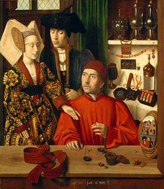 Petrus Christus, A Goldsmith in His Shop, Possibly Saint Eligius, Netherlandish…