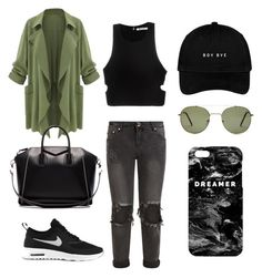 """""""kakiiii💚"""" by saba-nnop-pockete ❤ liked on Polyvore featuring T By Alexander Wang, One Teaspoon, Givenchy, NIKE, Forever 21 and Mr. Gugu & Miss Go"""