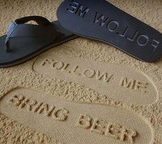 Follow Me Bring Beer #Flip Flops – http://thegadgetflow.com/portfolio/follow-me-bring-beer-flip-flops/