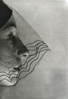 ☫ A Veiled Tale ☫  wedding, artistic and couture veil inspiration - Erwin Blumenfeld, Veiled Face,1932
