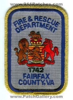 Fairfax County Fire and Rescue Department Patch Virginia VA