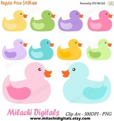 60% OFF SALE Rubber duck clipart duckies by MilachiDigitals