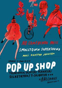 Mari Kanstad Johnsen. Poster for a one day-shop at Ballhaus.