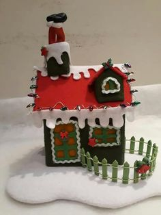 Christmas Home, Merry Christmas, Xmas, Christmas Ornaments, Felt House, Gingerbread, Lily, Paper Crafts, Felt Projects