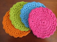 Beautiful work in these crocheted coasters.