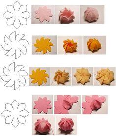 use to embellish felt or cloth crowns ~ suspiro molde de feltro Felt Diy, Felt Crafts, Fabric Crafts, Sewing Crafts, Sewing Projects, Paper Crafts, Diy Crafts, Simple Crafts, Paper Toys