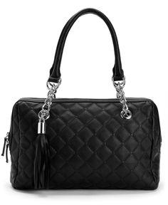 Calvin Klein Handbag, Geneva Quilted Leather Satchel