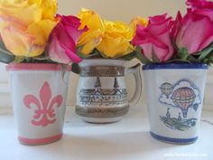 Roses in Louisville Stoneware Mint Julep Cups