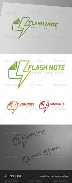 flash notetemplate logo vector eps 10 file adobe illustrator ai cs file cmyk
