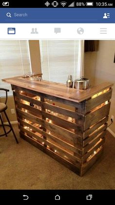 Love it for outside #backyard #bar #diy #palletproject #comfy #cozy #toasted