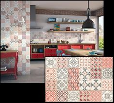 Textured and patterned tiles create exciting spaces!