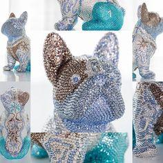FRENCH BRUNO / EDELWEISS-BLUE ______________________________________________ #frenchbruno #edelweiss #j_leitner #swarovski #swarovskicrystals💎 #art #sculpture #luxury #crystals #swarovskiart #blingbling #amazing #glamour #exclusive #frenchielove #frenchbulldog #bulldogs #dog #hund #doggy #glitter #worldvisualcollective #swarovskiartist #atelier #rosengarten #graz Bulldogs, French Bulldog, Swarovski Crystals, Butterfly, Glamour, Sculpture, Photo And Video, Luxury, Amazing