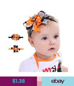 27d9bafbb0009 Baby Accessories Elastic Baby Headdress Kids Hair Band Girls Bowborn  Headband For Halloween B  ebay