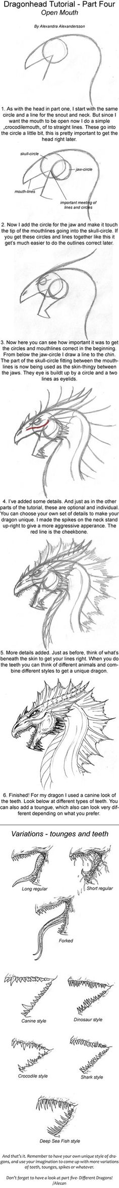 These are my tutorials. Hope you can get some help from these or at least some new perspectives on drawing dragons.
