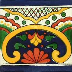 traditional mexican border tile - pasionaria | traditionell ... - Weie Fliesen Bordre