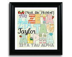 crafty zeta. Love the personalization with name and college.  #ZTA Zeta Tau Alpha