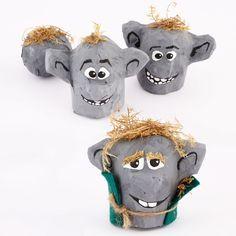 Frozen Rock Troll Craft | Spoonful DIY CRAFT ** Toilet paper rolls *