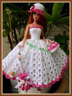 #Cléa5 #Doll #Crochet #Vestido #Dress #Muñeca #Barbie #RaquelGaucha