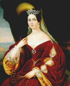 Maria Teresa d'Austria-Teschen, Queen of the Two Sicilies by unknown, date missing (ca 1840's?)  So pretty!