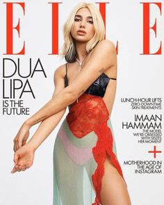 Dua Lipa fronts two covers for the May 2020 issue of Elle US both photographed by Zoey Grossman. For the first cover, Dua poses with a guitar from Moschino's. Nelly Furtado, Vogue Magazine Covers, Vogue Covers, Magazine Mode, Elle Magazine, Future Magazine, Magazine Wall, Christina Aguilera, Dua Lipa Tattoo