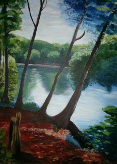 Akryl på lærred 60×80 malet af Annemarie Elal
