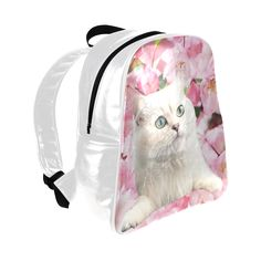 Cat and Flowers Multi-Pockets Backpack. FREE Shipping. #artsadd #lbackpacks #cats