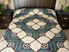 Stars in the Cabin Quilt -- terrific ably made Amish Quilts from Lancaster (hs7006)