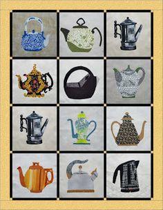 Teapots BOM Quilt