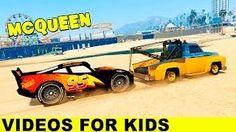 Spiderman Saves Lightning McQueen & Transportation Cars Cartoon for Kids...