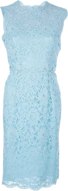 VALENTINO fitted lace dress