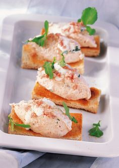 Ham Mousse on Toast Mousse, Recipe Database, Snacks Für Party, Dessert, Yummy Food, Delicious Recipes, Tacos, Mexican, Ethnic Recipes