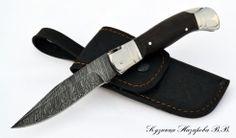 Складной нож Каюр дамаск
