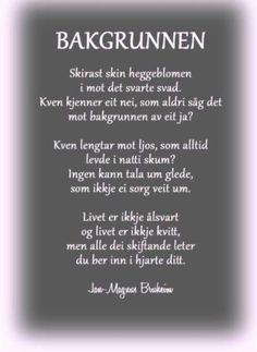 Dikt av Jan-Magnus Bruheim