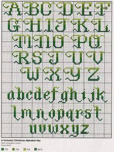 gradient cross stitch alphabet 13-high