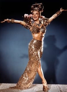 Carmen Miranda the Queen of Platforms, seriously. And she pulled it off!