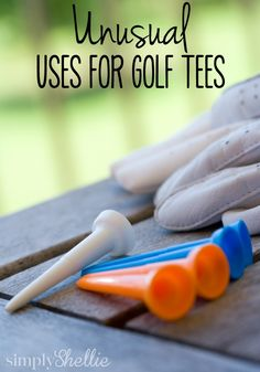 10 Unusual Uses for Golf Tees - 10 Unusual Uses for Golf Tees Unusual Uses for Golf Tees. I love I can never find enough corn cob holders but we always have plenty of Golf Tees. Corn On Cob, Thing 1, Making Life Easier, Gifts For Office, Golf Tips, Golf Ball, Good To Know, Cleaning Hacks, Helpful Hints