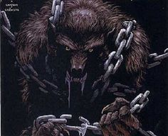 Image result for chained up werewolf