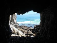 Cave at the beach in Hermanus, South Africa