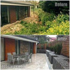 Ilyen volt, ilyen lett terasz Horticulture, Outdoor Furniture Sets, Outdoor Decor, Land Scape, Beautiful Gardens, Home Projects, Garden Design, Pergola, House