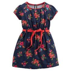 Just One You™Made by Carter's® Girls' Short-sleeve Floral Dress - Navy