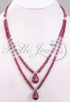 Double Strand Natural Ruby Drops Bead Necklace – Keep up with the times. Beaded Jewelry Designs, Jewelry Patterns, Necklace Designs, Handmade Jewelry, Bead Patterns, Diy Jewelry Necklace, Bead Jewellery, Jewelry Crafts, Beaded Necklace
