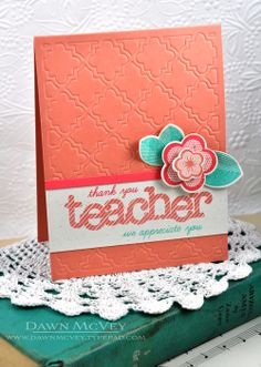 Thank You Teacher Card by Dawn McVey for Papertrey Ink (June 2013)