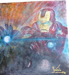 Iron man acrylique sur toile 2015